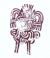 Teotihuacan stamp