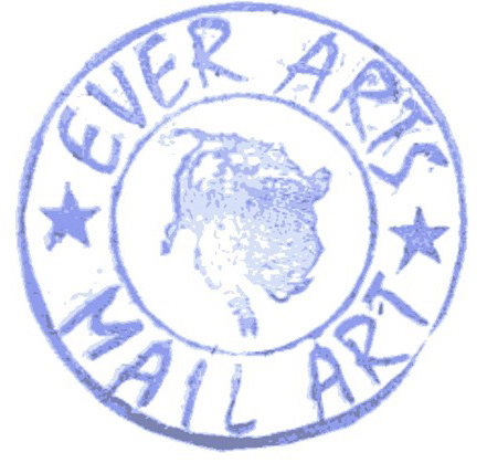 ever arts mail art stamp